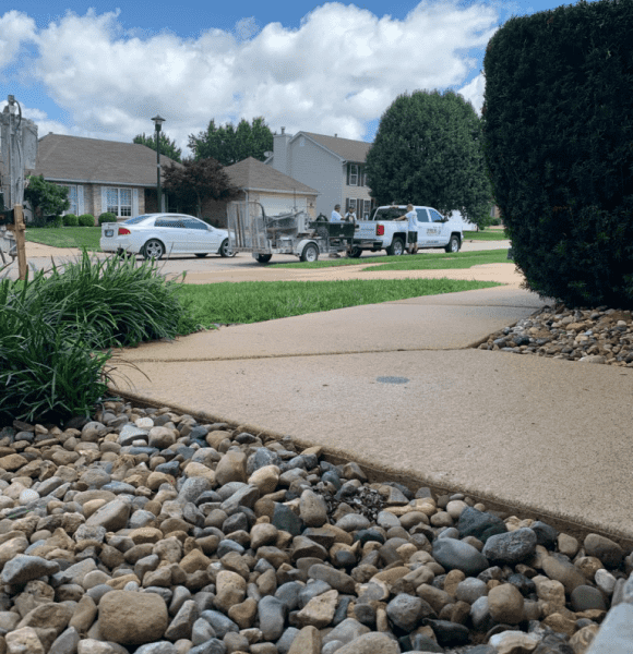 Concrete after our mudjacking Services in O'Fallon, MO
